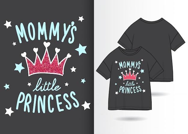 Типографский слоган с дизайном футболки