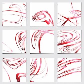 赤の抽象的な高級バレンタインの概念の背景