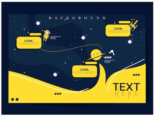 Синие и желтые пространства исследуют шаблон фона вселенной