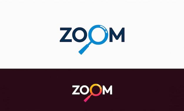 シンプルなズームロゴのテンプレートデザイン