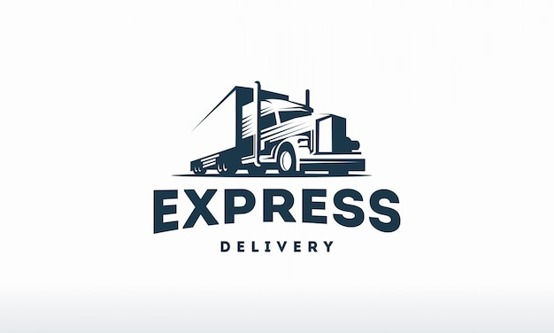 Шаблон логотипа грузовика