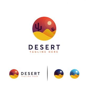 砂漠のロゴのテンプレート
