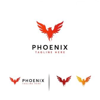 Шаблон логотипа величества феникса