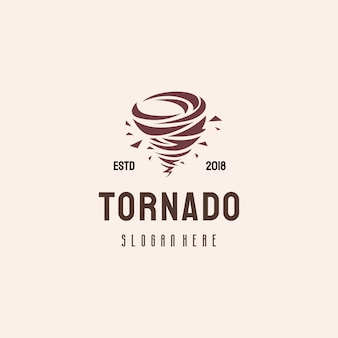 竜巻のロゴデザイン、台風のロゴのテンプレートのコンセプト