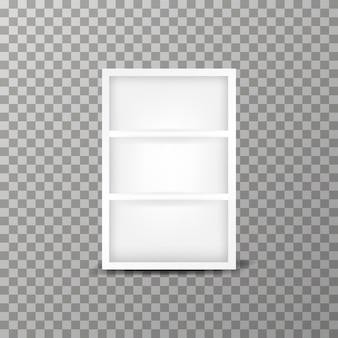 透明な背景にモダンなキャビネットベクトルテンプレート