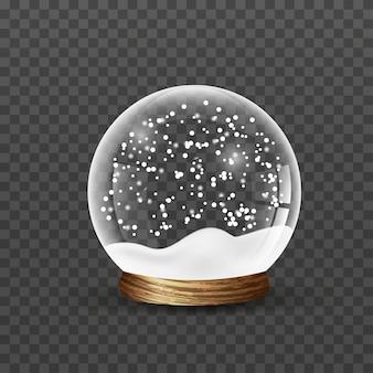 Рождественский снежный шар