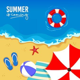 テンプレート夏のビーチ