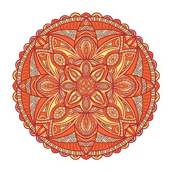 印刷用のマンダラ。部族の飾り。