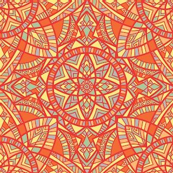 Мандала вектор бесшовный фон фон. племенной орнамент.