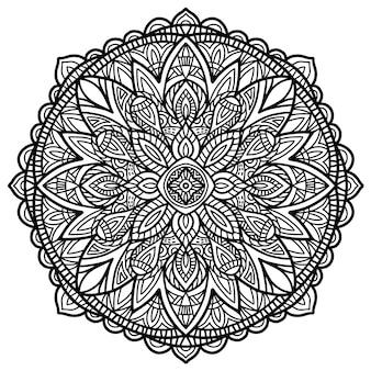 印刷用のマンダラベクターデザイン。部族の飾り。