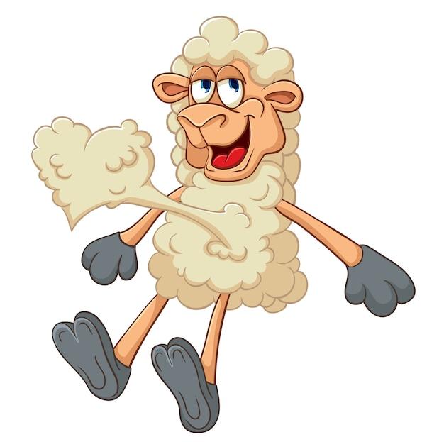 羊について幸せなバレンタインのためのベクトル図