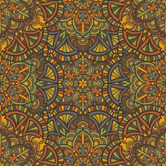 マンダラのシームレスなパターン背景。