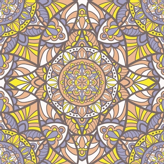 マンダラのシームレスパターン