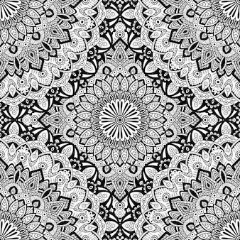 Бесшовные шаблон мандалы орнамент.