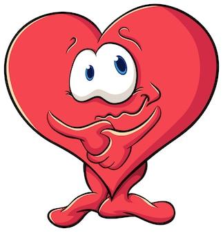 День святого валентина иллюстрация с сердцем