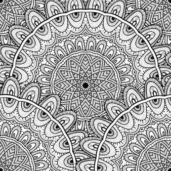 抽象的な飾りとベクトル自然シームレスパターン。