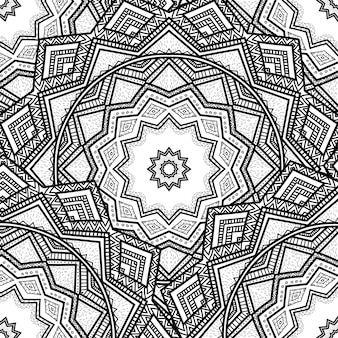 Векторная природа бесшовный образец с абстрактным украшением.