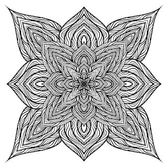 Векторные орнаменты природы мандалы.
