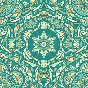 印刷用の曼荼羅デザイン。部族の飾り。