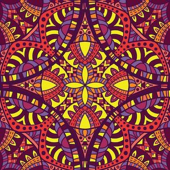 印刷用のマンダラベクトルデザイン。部族の飾り。