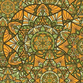 Бесшовные шаблон мандала векторный дизайн для печати. племенной орнамент.