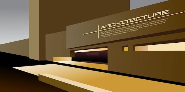 Современная архитектура вектор макет для макета целевой страницы или дизайн рекламного буклета или листовки