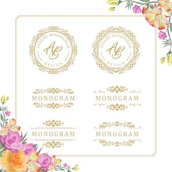 Роскошный дизайн шаблона для свадьбы и украшения