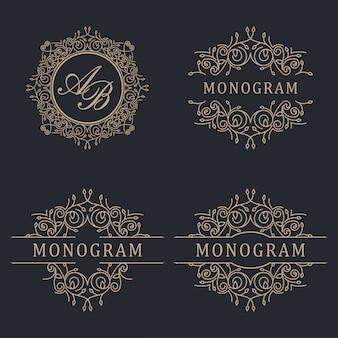 Роскошный логотип свадьбы
