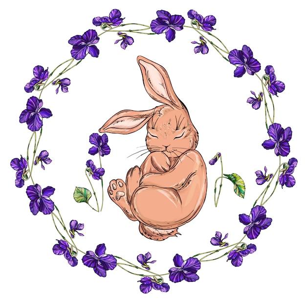 ベクトル分離漫画ウサギ
