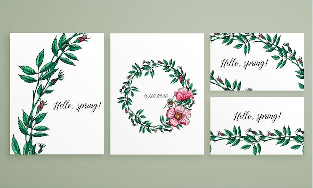 Цветочная коллекция цветов визиток и визиток