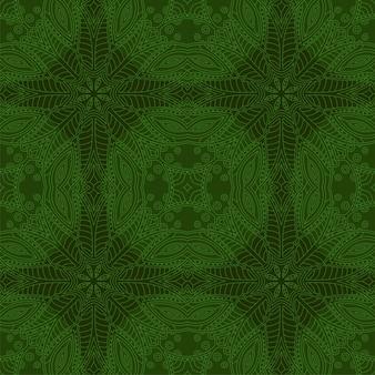抽象的なシームレスパターンとグリーンクリップアート