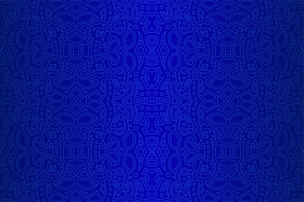 青い線形シームレスな抽象的なパターンを持つアート