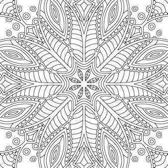 塗り絵のシームレスな線形抽象的なパターン