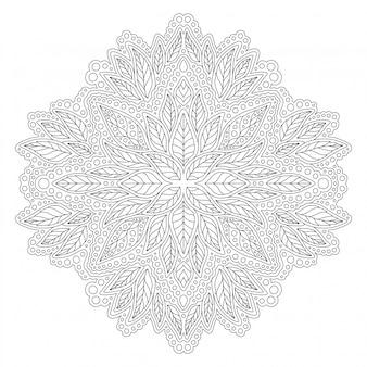 葉の塗り絵の線形図