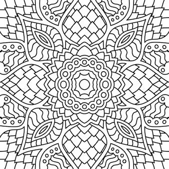 塗り絵の黒と白のシームレスパターン