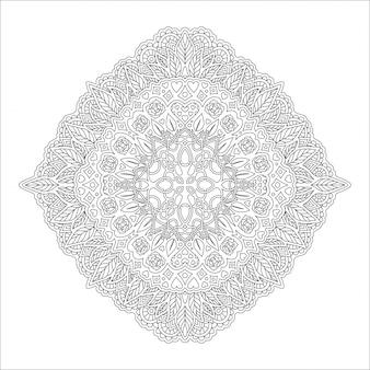 Линейный шаблон для раскраски страницы с розами