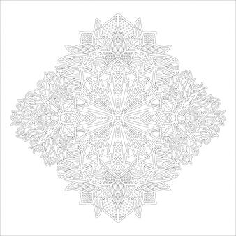 塗り絵の黒と白の線形アート