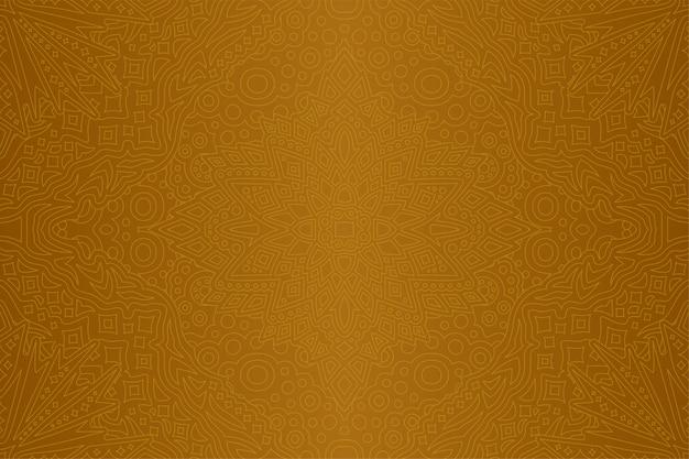 シームレスな線形パターンと抽象的な黄金アート