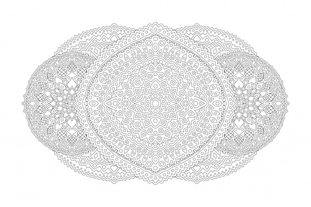 線形パターンで本ページを着色するためのアート