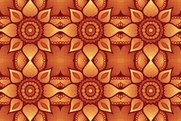 茶色の抽象的なシームレスパターンとカラフルなアート