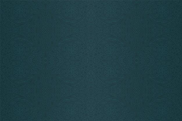 抽象的なシームレスパターンとダークグリーンブルーアート