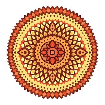 抽象的な太陽の丸いパターンのクリップアート