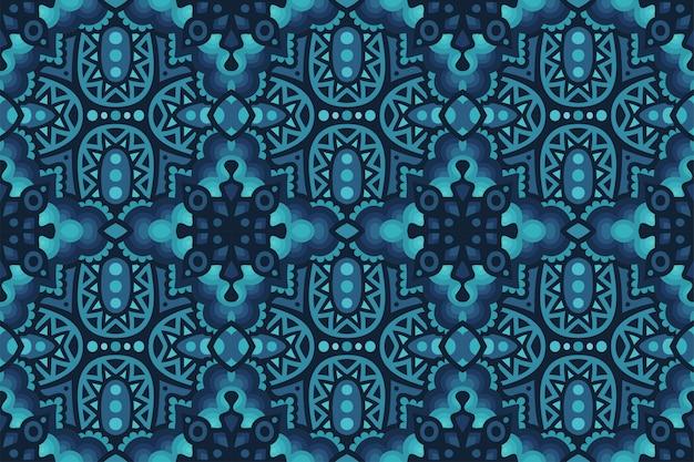 青いシームレスな抽象的なパターンを持つスタイリッシュなアート
