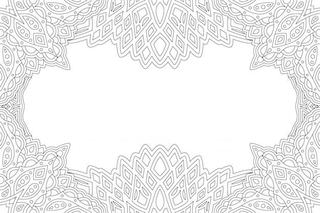 抽象的な境界線を持つ本ページを着色するためのアート