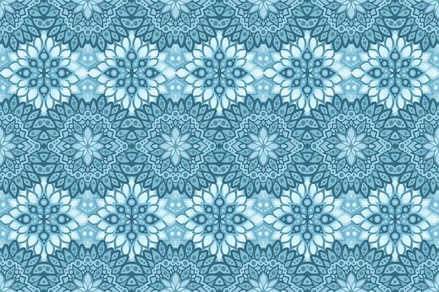 青い氷のパターンを持つ冬のアート