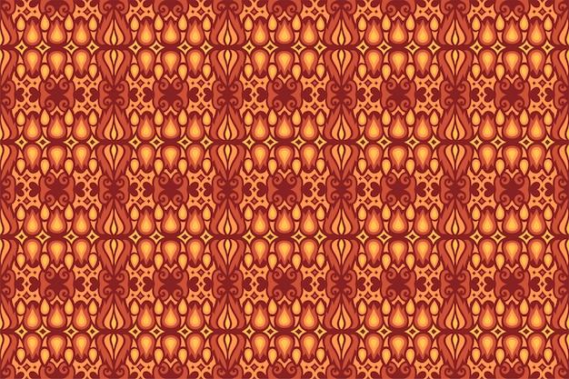 火の炎で抽象的な赤いシームレスパターン