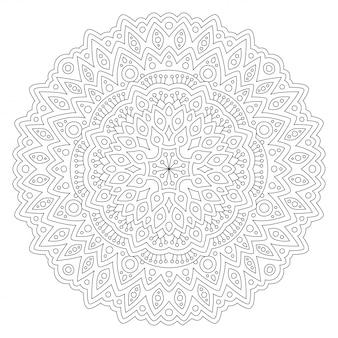 丸い線形パターンで本ページを着色