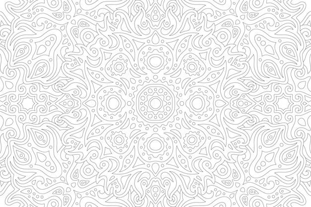 Искусство раскраски с линейным рисунком