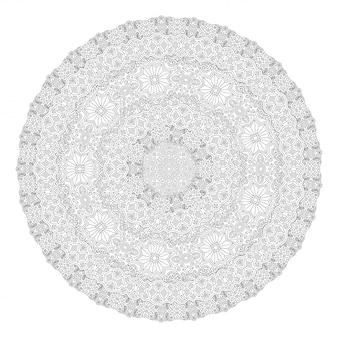 丸い模様の塗り絵の線画