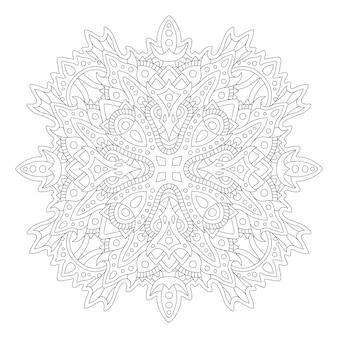 線形の抽象的なパターンで塗り絵アート